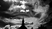 Steeple and Clouds